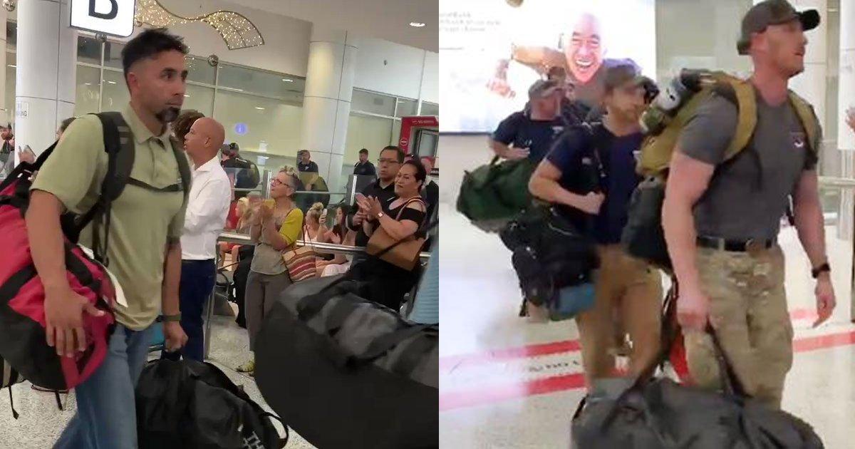 american firefighters lauded at the airport after arriving in australia.jpg?resize=1200,630 - Firefighters From America Got A Warm Welcome As They Arrived In Australia