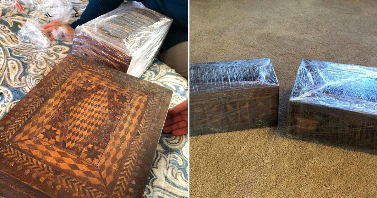 boxes8.png?resize=1200,630 - Un voleur de banque avait caché des trésors dans des boîtes mystérieuses, et 100 ans plus tard son arrière petit-fils les découvre