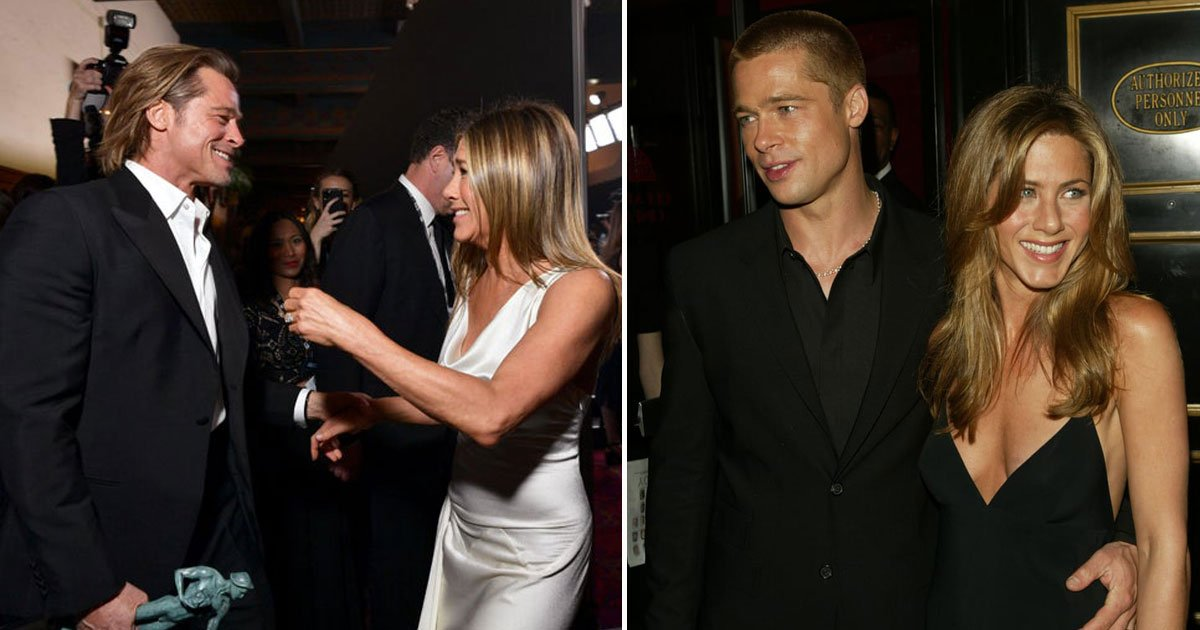 brad pitt jennifer aniston reunited.jpg?resize=1200,630 - Jennifer Aniston And Brad Pitt Are 'Acting Like A Couple' And Could Make Their Reunion Official