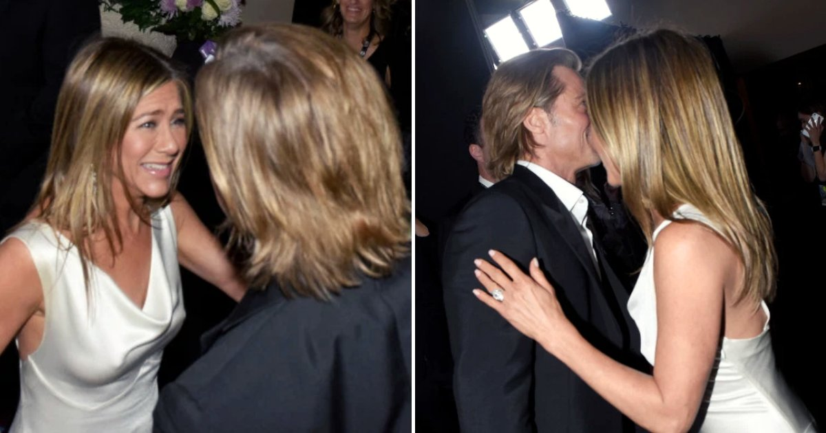 brad7.png?resize=1200,630 - Brad Pitt And Jennifer Aniston Reunited Backstage After He Joked About Wife Troubles