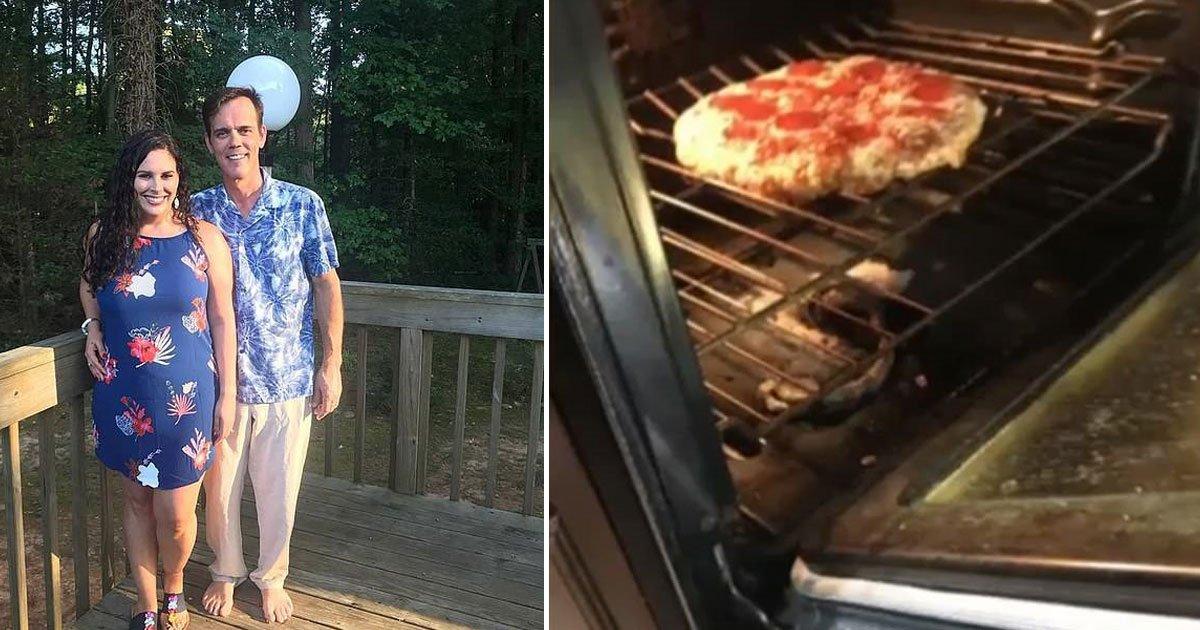 couple snake inside over frozen pizza.jpg?resize=1200,630 - Une famille a trouvé un serpent cuit dans son four en préparant une pizza surgelée
