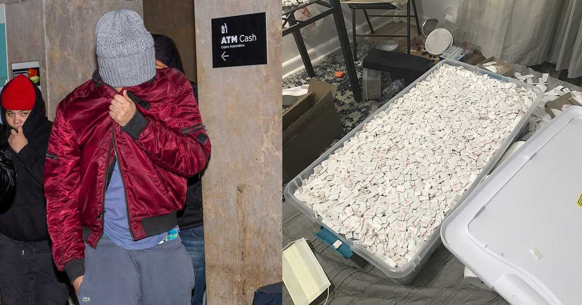 fentanyl bust 2.jpg?resize=1200,630 - Suspects Behind the $7M fentanyl Ring Released Without Bail Despite Having Found with 750,000 Drug-Filled Envelopes from Bronx