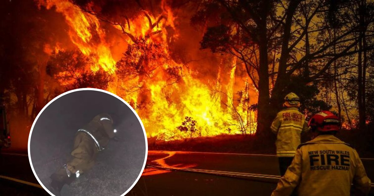 fires.png?resize=412,232 - Daughter Shared Photo Of Her Dad Catching '5 Minutes Sleep' While Fighting Devastating Bushfires