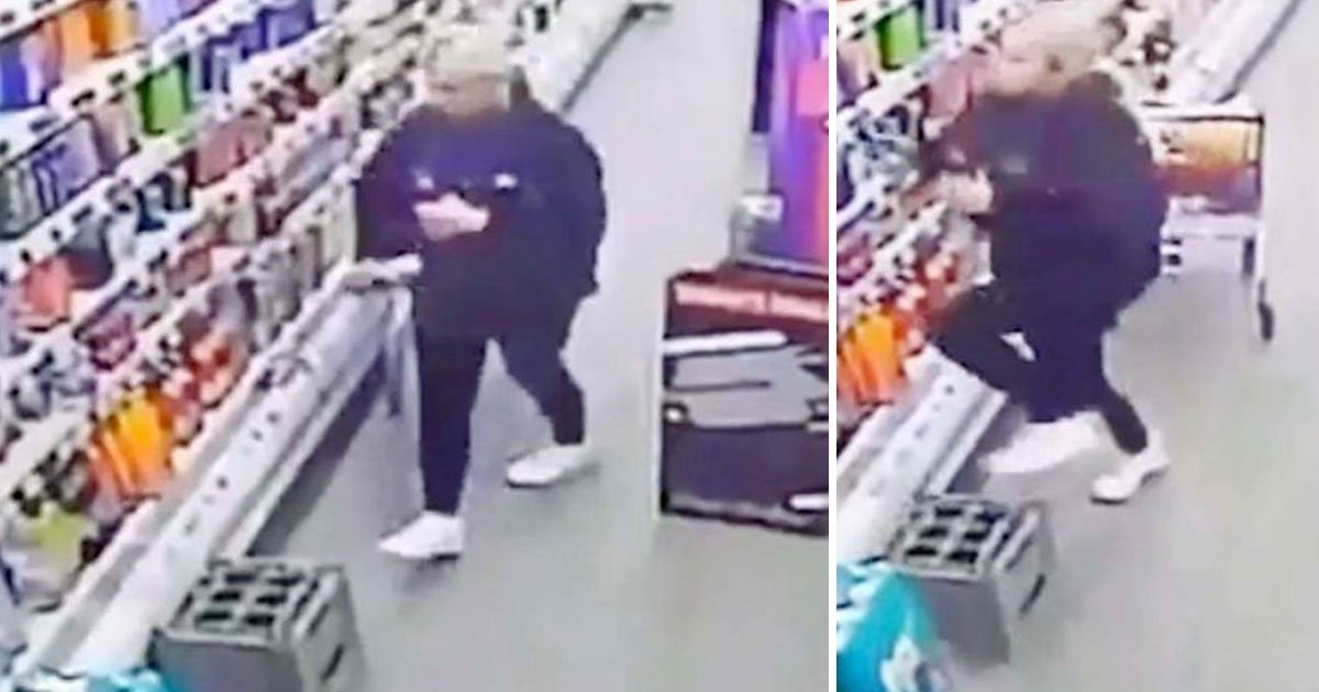 ghost cctv.jpg?resize=1200,630 - Video Of A Ghost Moving Crate Away From The Worker That Caused Her To Fall Over