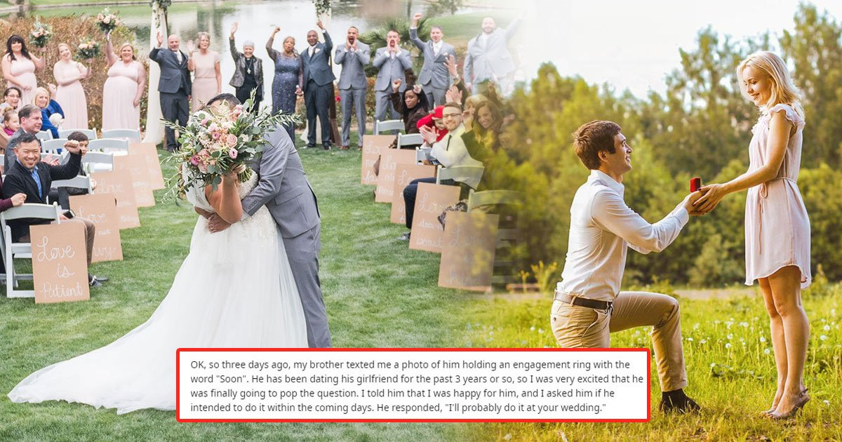 groom banned brother wedding.jpg?resize=1200,630 - Groom Banned Brother from His Wedding who Wanted to Propose to His Girlfriend
