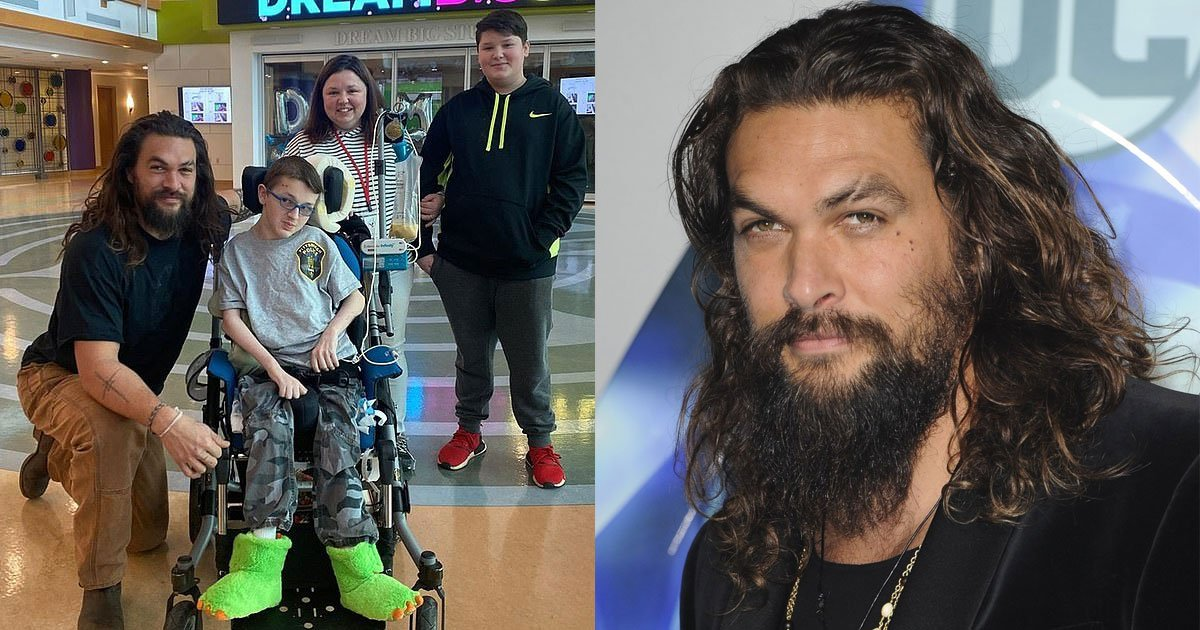 jason momoa paid a visit to childrens hospital and put a smile on their faces.jpg?resize=1200,630 - Jason Momoa The Aquaman Paid A Surprise Visit To The Children's Hospital