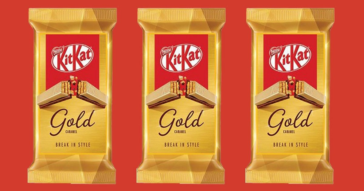 k3 2.jpg?resize=1200,630 - Nestle Released Luxiously Looking KitKat Gold Edition