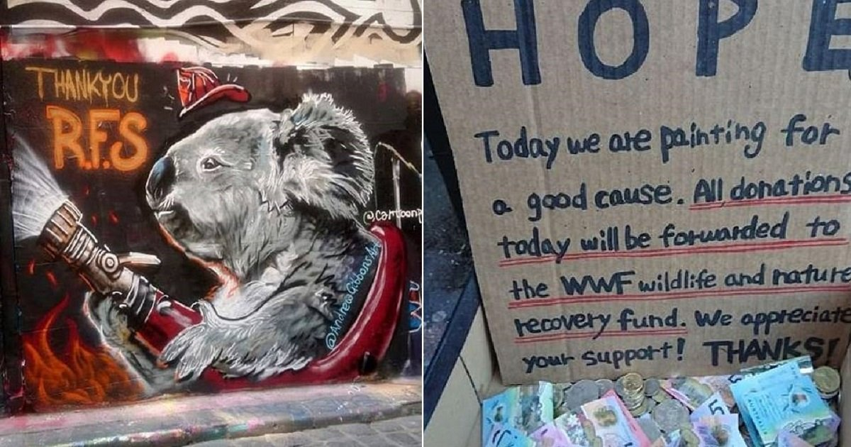 k4.jpg?resize=1200,630 - Touching Mural Of A Koala Holding A Hose Was Created To Thank Firefighters