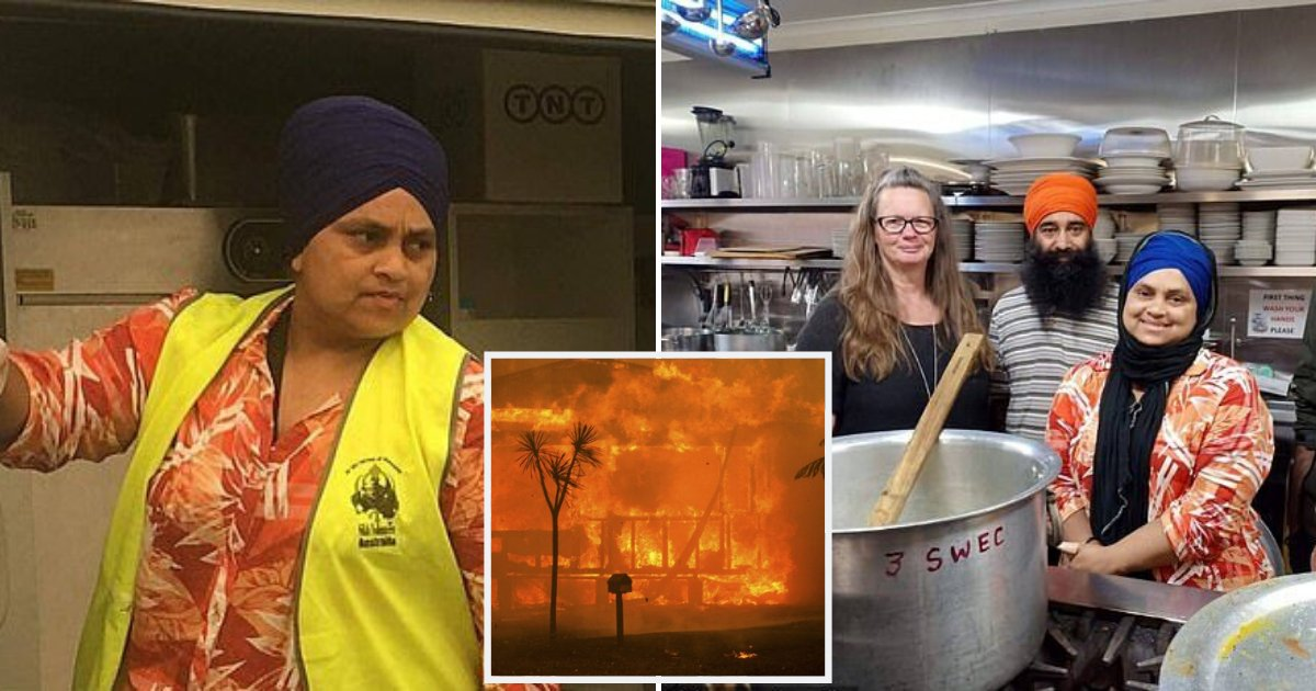 kaur5.png?resize=1200,630 - Woman Cancelled Her Trip To Cook 1,000 Free Meals A Day For Victims Of Australian Bushfires
