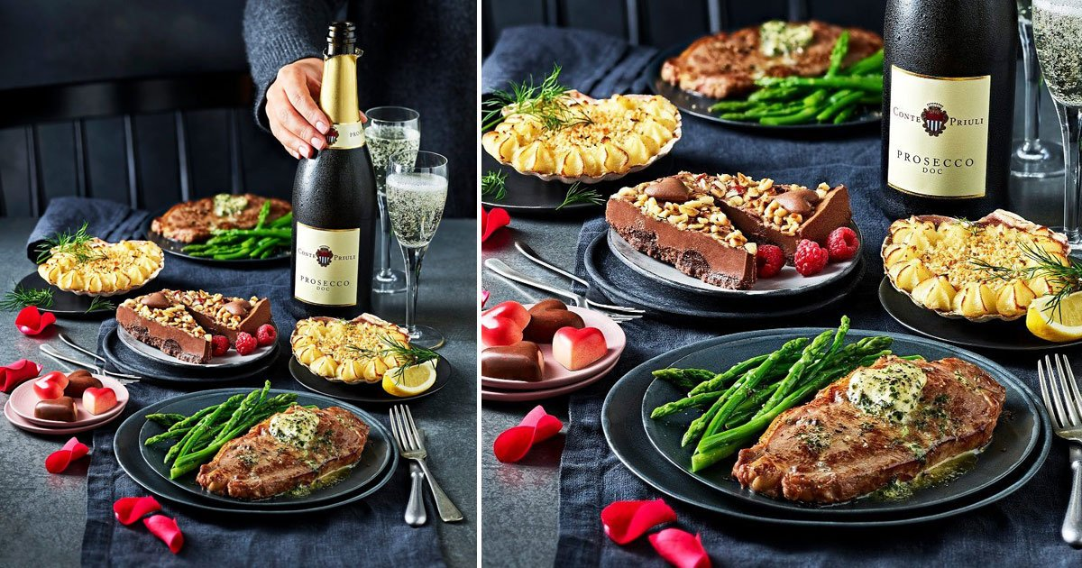 ms valentine meal deal.jpg?resize=1200,630 - M&S' £20 Valentine's Day Meal Deal Offers A Starter, Main, Side, Dessert, A Box Of Chocolates And A Bottle Of Drink For Just £20
