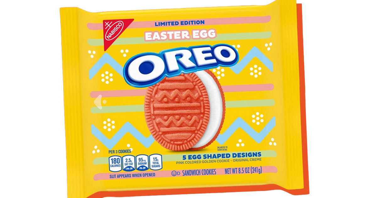 pink easter egg oreos are coming in february.jpg?resize=1200,630 - Pink Easter Egg Oreos Debut In February