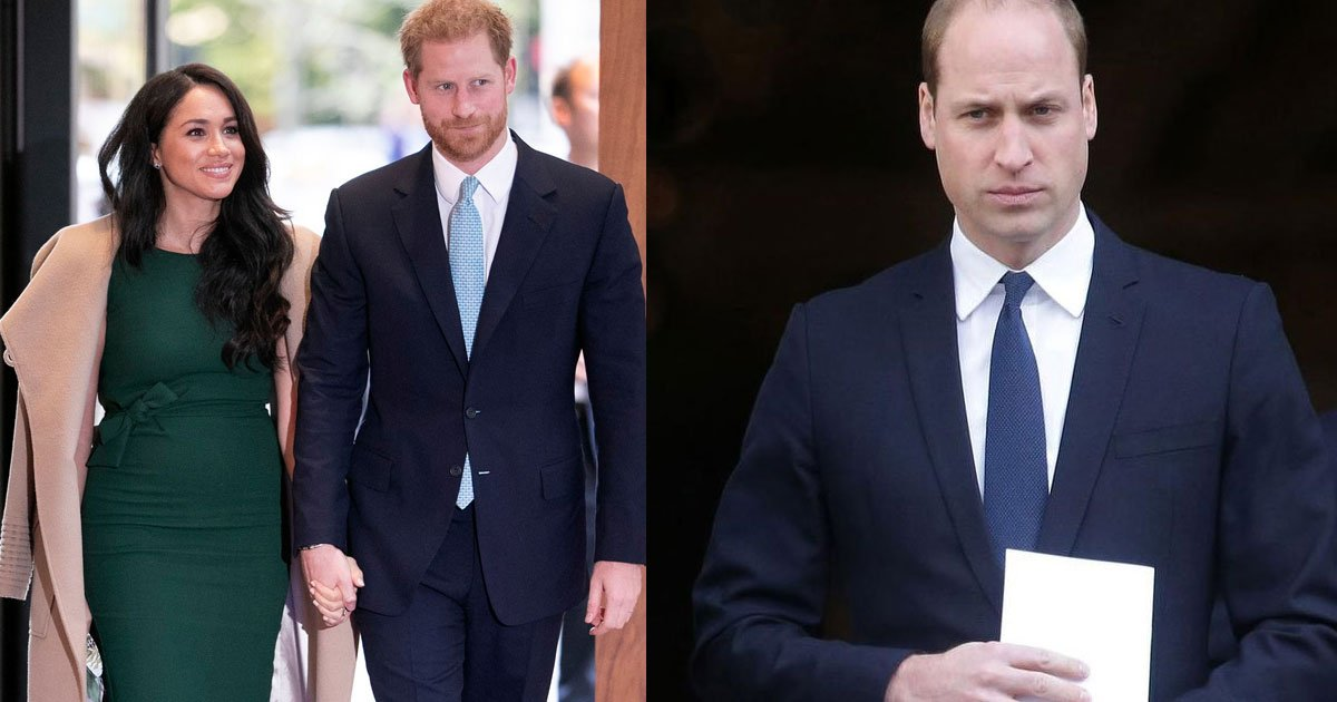 prince william is incredibly hurt after harry and meghan decided to step back from royal duties says an insider.jpg?resize=1200,630 - Prince William 'Hurt' After Harry And Meghan's Decision, Said An Insider
