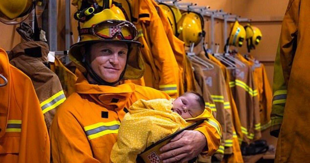 spencer4.png?resize=1200,630 - Emotional Volunteer Firefighter Cradled His Newborn Son At Station During Short Break From Fighting Bushfires