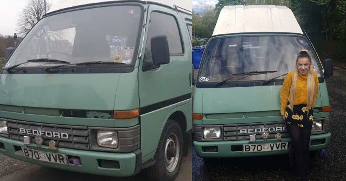 student turned a 35 year old campervan into her new home after getting fed up of rent and bills.jpg?resize=1200,630 - Student Turned A 35-Year-Old Campervan Into Her Home After Getting Tired Of Paying Rent And Bills