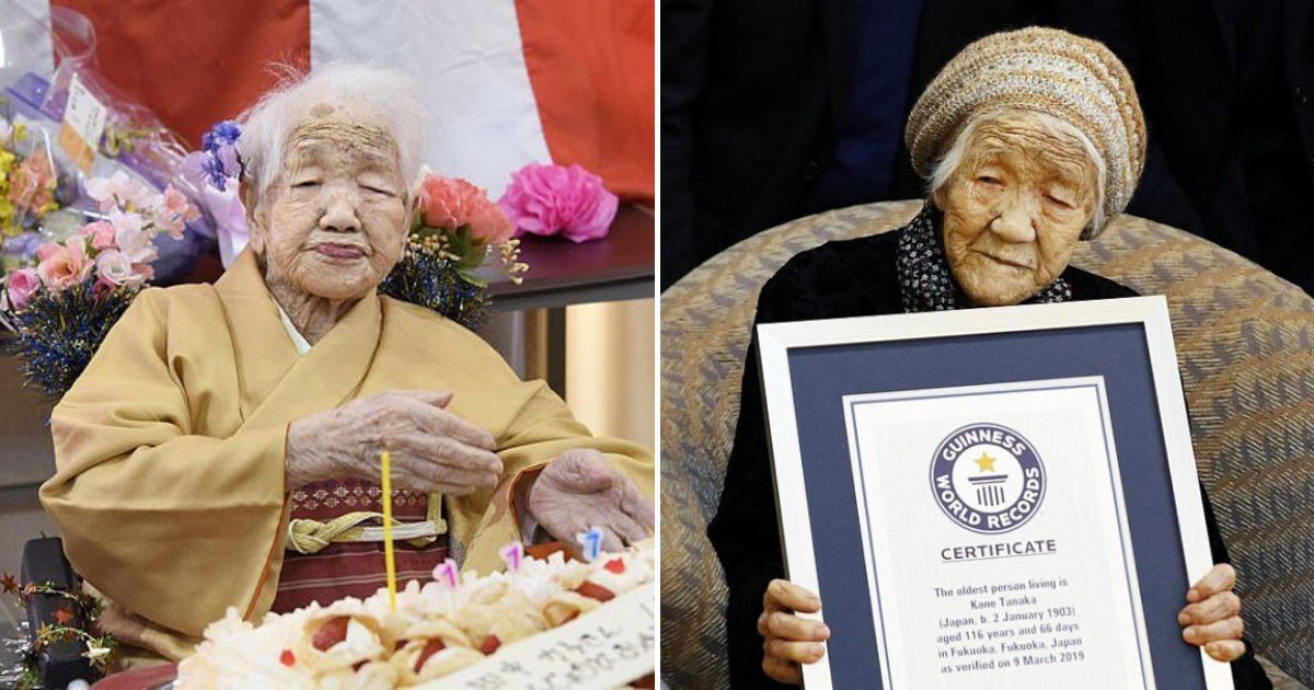 tanaka5.png?resize=1200,630 - The World's Oldest Woman Enjoyed A Slice Of Cake For Her Birthday