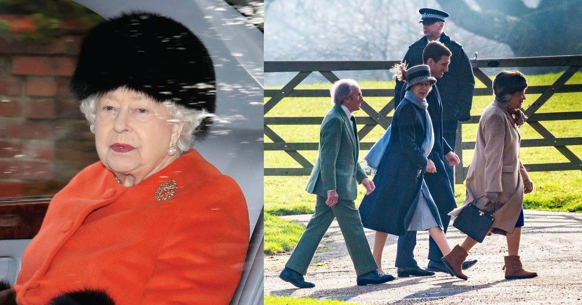 the queen stepped out to visit the church with princess anne.jpg?resize=1200,630 - The Queen Stepped Out For Church Service With Princess Anne