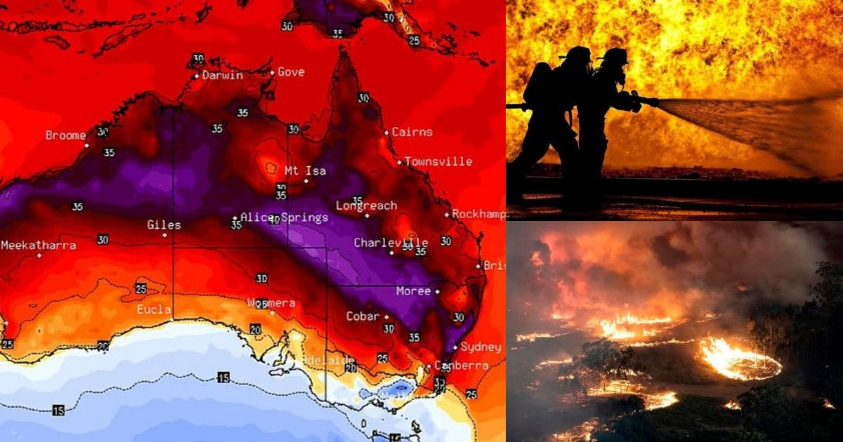 thumbnail 2.jpg?resize=1200,630 - 'SEVERE FIRE DANGER' - Extreme Heat Blast In Australia Feared As Temperature Soars Up To 44°C