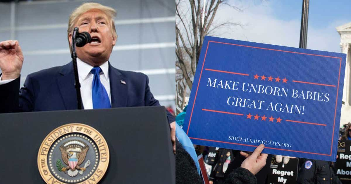 untitled 1 106.jpg?resize=1200,630 - Donald Trump will be The First President to Speak at March for Life Rally on Friday