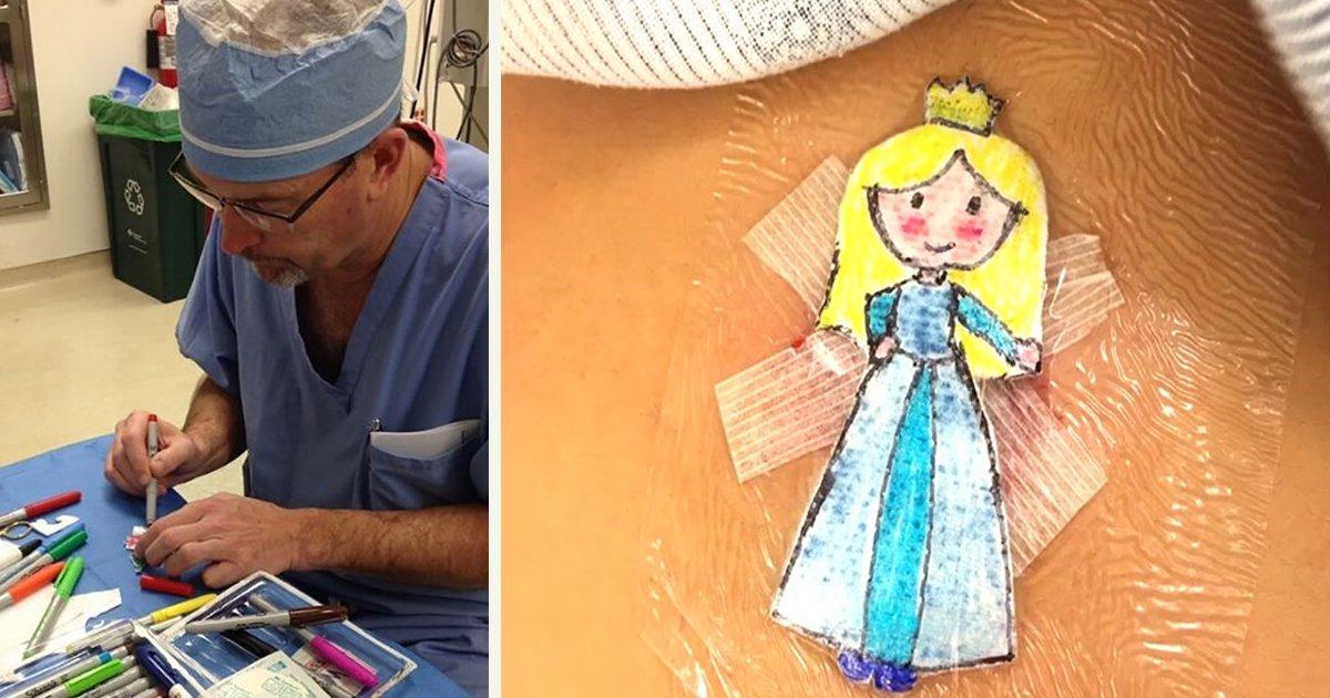 untitled 1 108.jpg?resize=1200,630 - A Surgeon Draws Cartoons On Kids' Post-Op Dressings