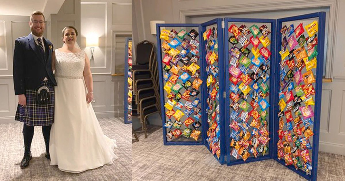 untitled 1 109.jpg?resize=1200,630 - Snack Fanatic Couple Made DIY 'Crisp Wall' For Guests At Their Wedding Reception
