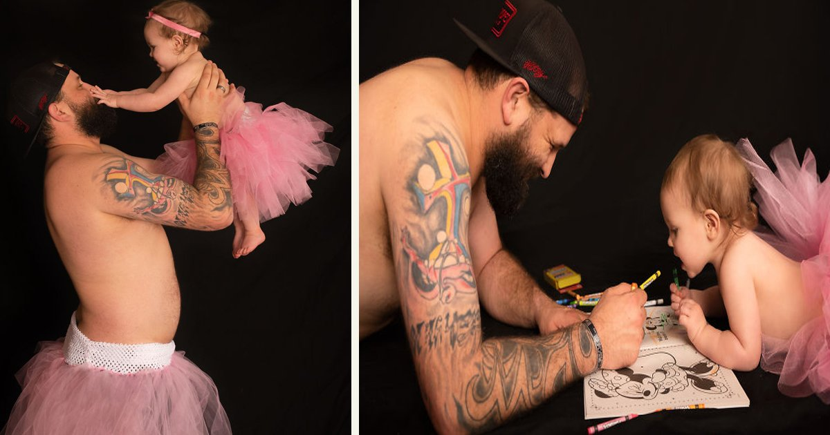 untitled 1 141.jpg?resize=1200,630 - Dad And Daughter Dressed In Tutus For A Photoshoot