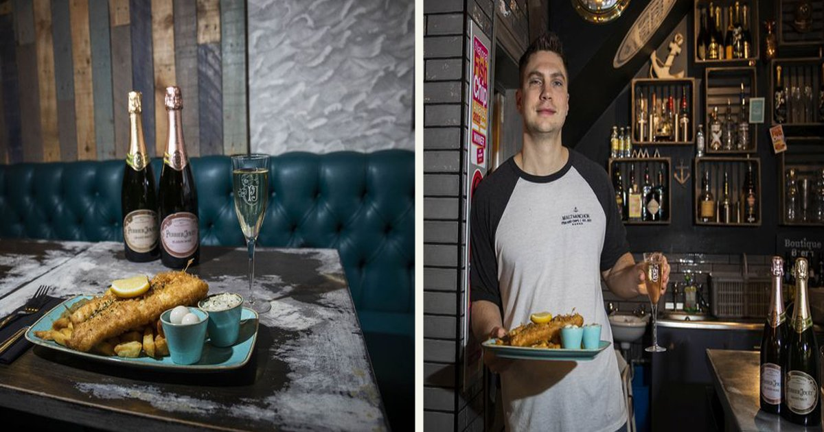 untitled 1 46.jpg?resize=412,232 - Fanciest Fish And Chip Shop Serves Eggs Pickled In $260 Champagne