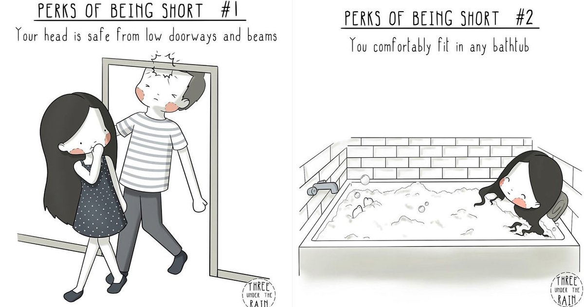 untitled 1 68.jpg?resize=1200,630 - Talented Artist Illustrated The Perks Of Being Short