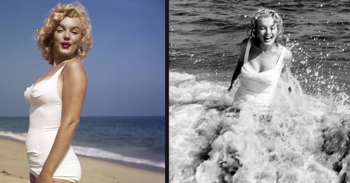 untitled 1 70.jpg?resize=412,232 - Beautiful Photoshoot Of Marilyn Monroe An The Beach In 1957