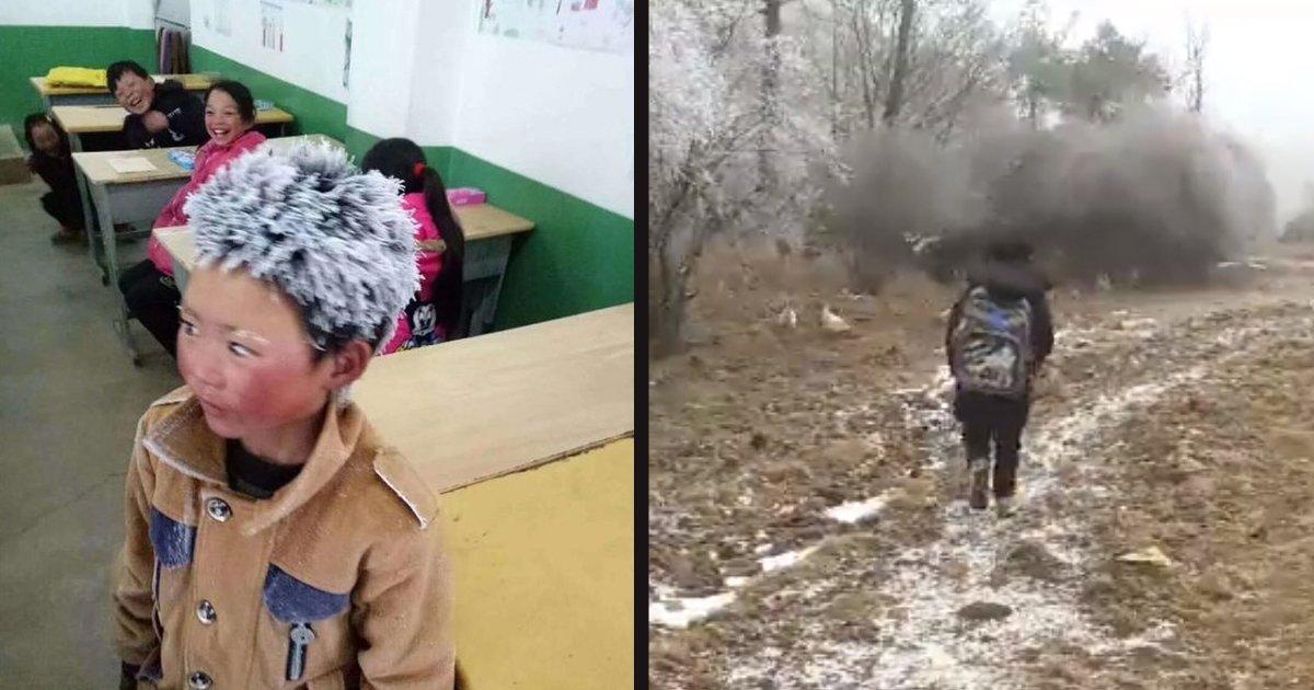 """untitled 1 75.jpg?resize=300,169 - """"Le garçon de glace"""" a parcouru plus de 5 kilomètres par temps froid pour aller à l'école et passer son examen"""
