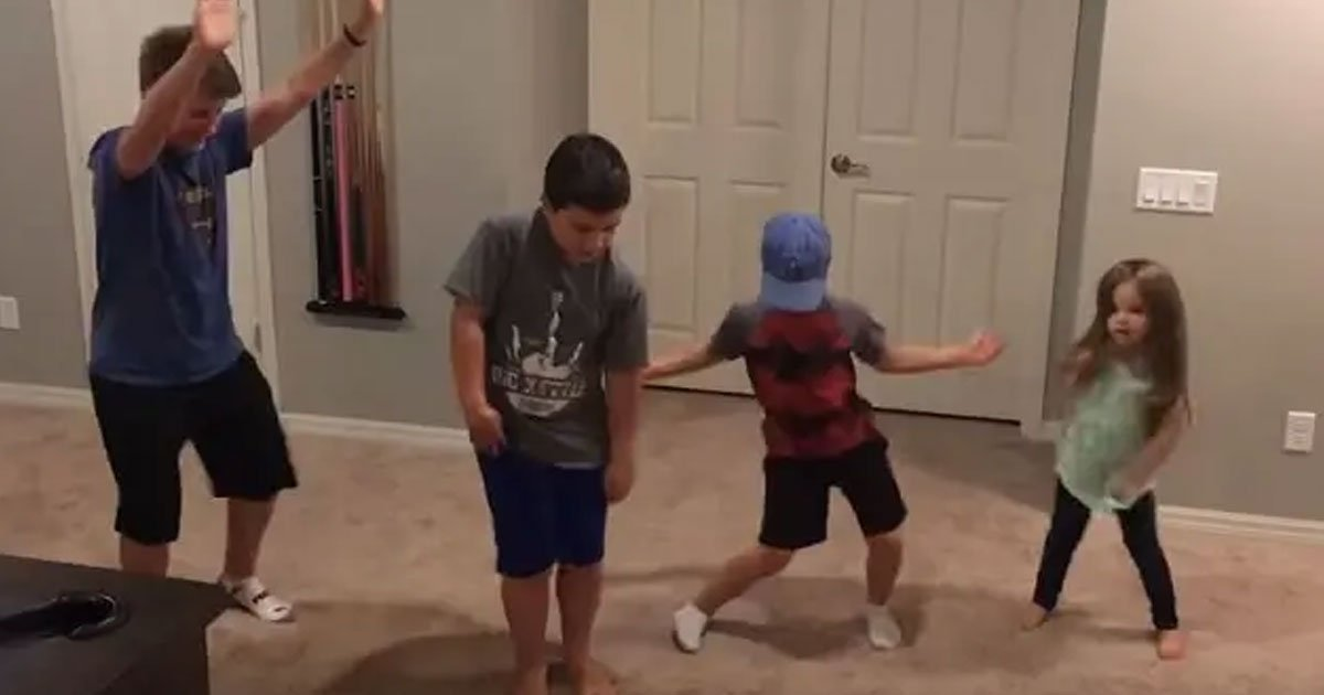untitled 1 90.jpg?resize=1200,630 - Three Older Brothers Joined Their Little Sister In Dancing