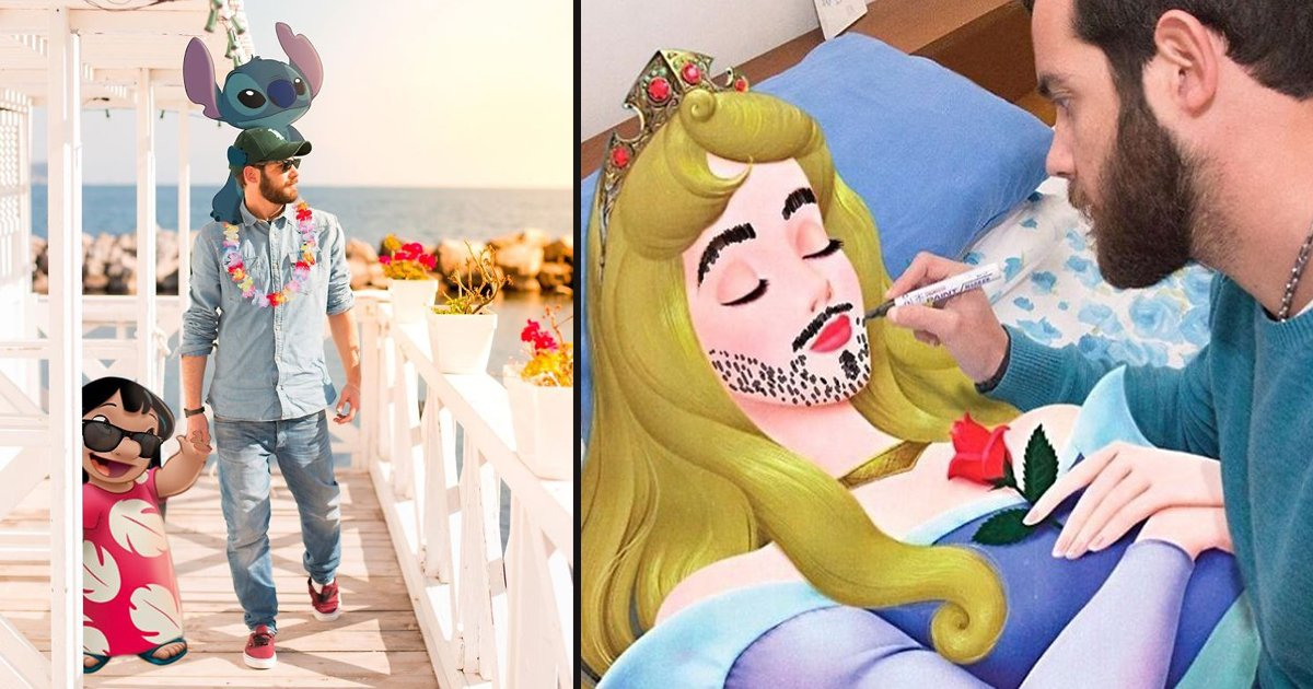 untitled 2 9.jpg?resize=1200,630 - A Man Photoshopped Disney Characters Into His Photos