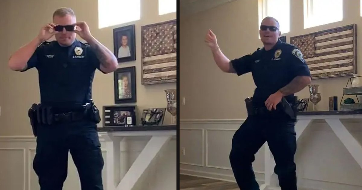"""untitled 3 4.jpg?resize=1200,630 - Police Officer Accepted The """"Git Up"""" Challenge And Showed Off His Moves"""