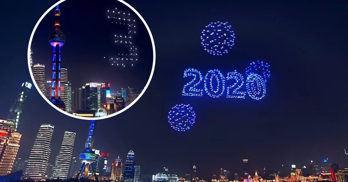 untitled design 46.png?resize=1200,630 - Shanghai Traded New Year Eve's Fireworks Display For A Midair Drones Performance