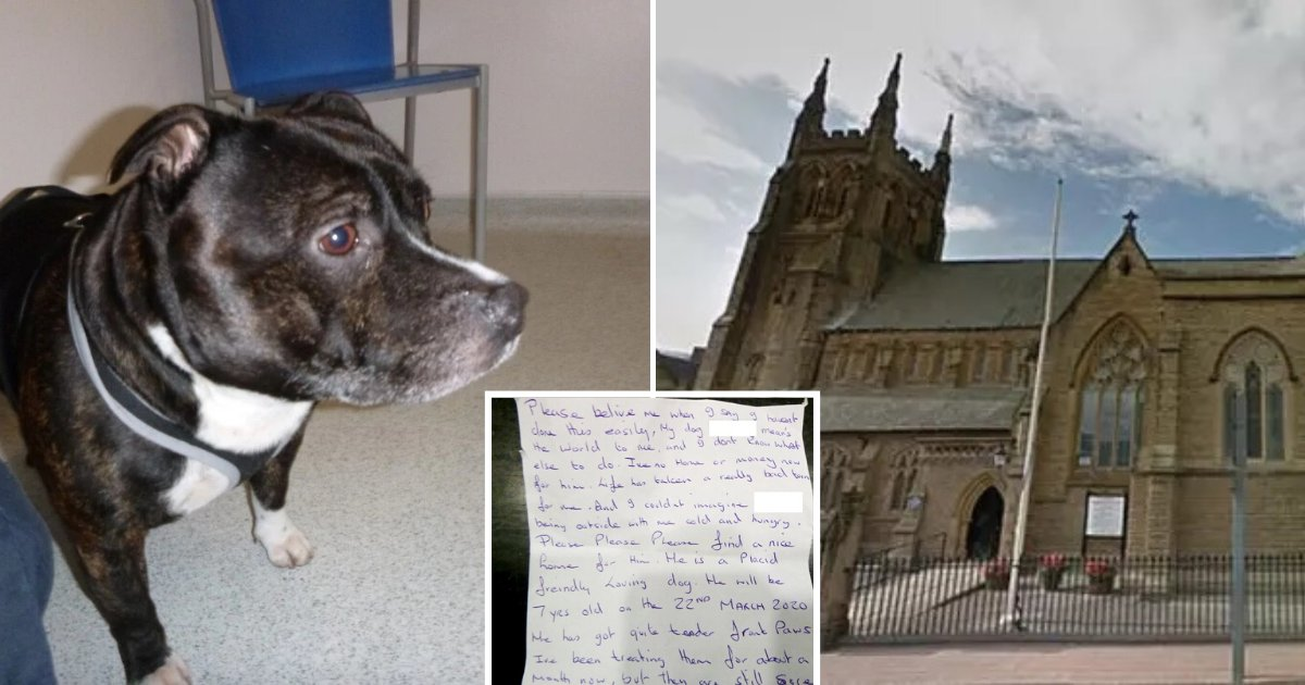 untitled design 47.png?resize=1200,630 - Owner Abandoned His Dog At A Church Altar And Left Behind A Touching Note