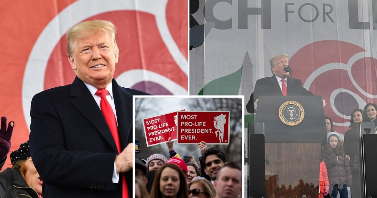 untitled design 53 2.png?resize=1200,630 - Trump Becomes The First President Ever To Attend Anti-Abortion March For Life