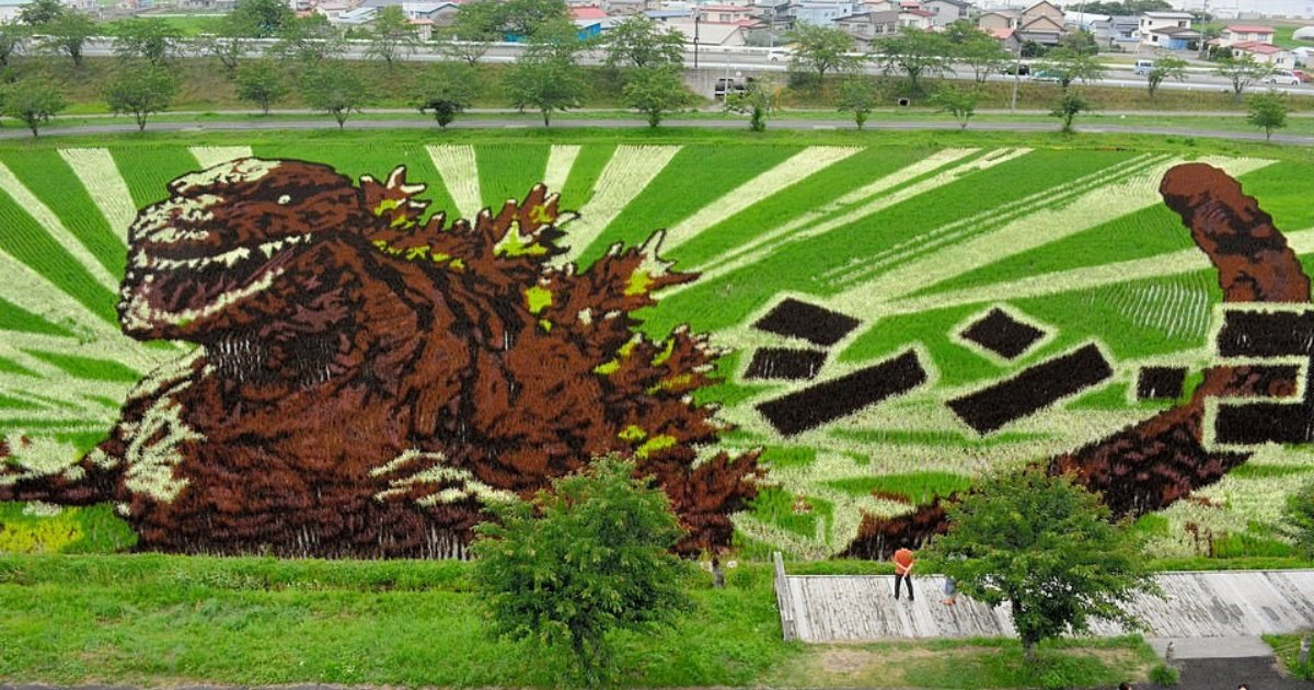 untitled design 56 2.png?resize=1200,630 - Rice Art: Japanese Farmers Create 3D Masterpieces Using Different Types Of Rice
