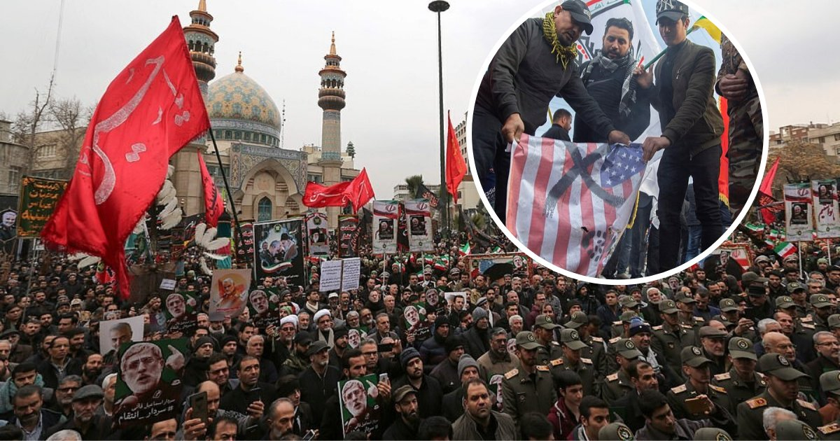 untitled design 58.png?resize=1200,630 - Iranians Vowed Revenge Against The US And Chanted 'Death To America' At General Soleimani's Funeral