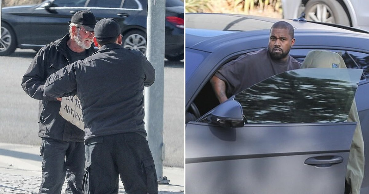 untitled design 61 1.png?resize=1200,630 - Kanye West Stopped His Luxury Car To Give Money To A Homeless Veteran