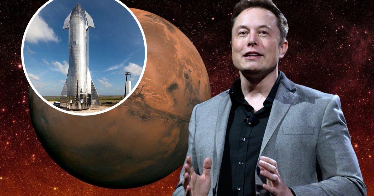 untitled design 67 1.png?resize=1200,630 - Tesla: Elon Musk prévoit de construire 100 vaisseaux spatiaux par an et d'envoyer 1 million de personnes sur Mars d'ici 2050