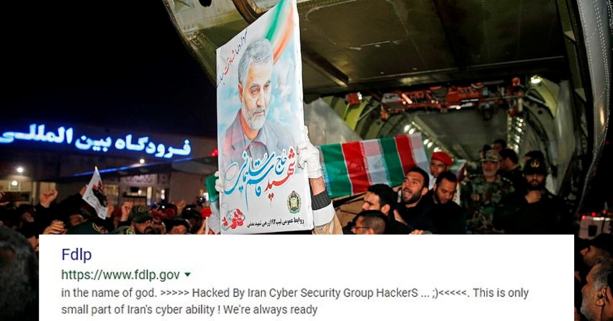 untitled design 67.png?resize=1200,630 - Iranian Hackers Cracked U.S. Government Website And Uploaded Chilling Images Of Trump