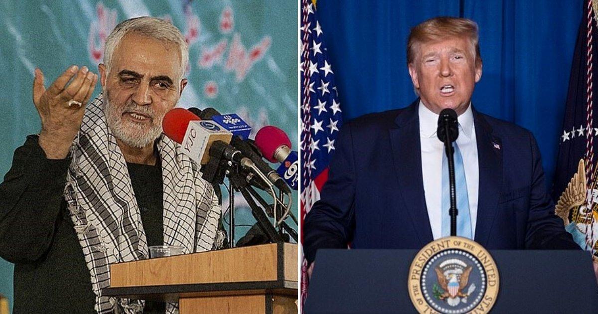 """untitled design 70.png?resize=412,232 - Le président Trump a déclaré qu'ils avaient exécuté le général Soleimani pour """"arrêter une guerre, et non pas pour déclencher une guerre"""""""