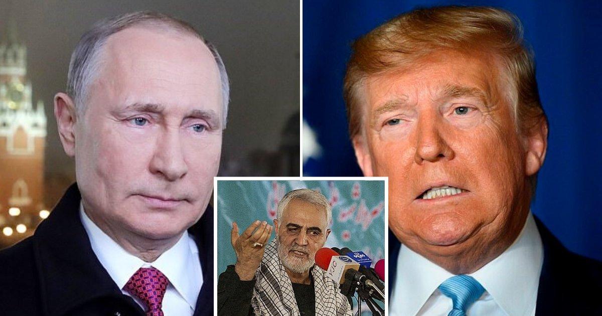 untitled design 72.png?resize=1200,630 - Vladimir Poutine condamne la décision de Donald Trump qui a fait tuer le général iranien Soleimani