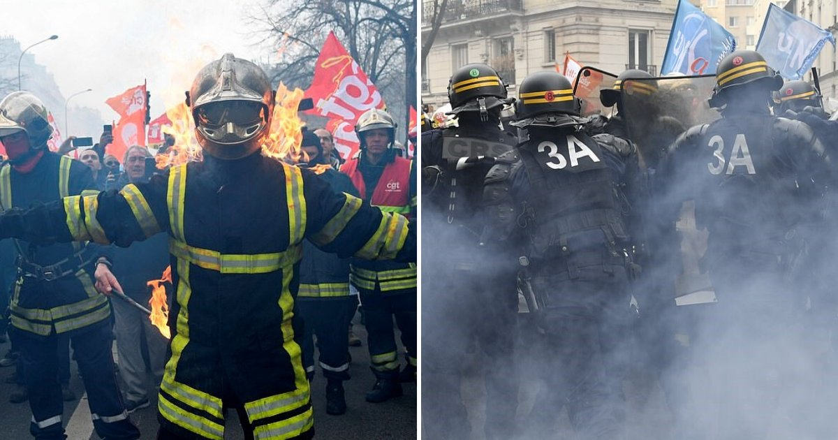 untitled design 86 2.png?resize=1200,630 - Firefighters Clashed With The Police During Protest Against Low Wages And Pensions