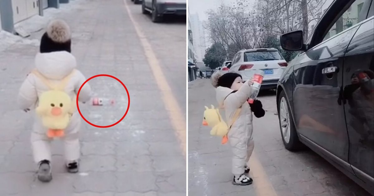 untitled design 88.png?resize=1200,630 - Toddler Picked Up Plastic Bottle And Returned It To Litterbug Who Threw It Out Of His Car