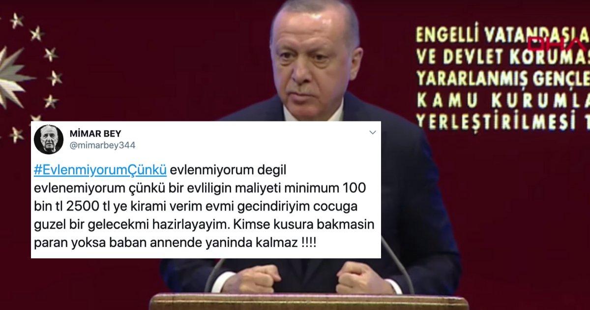 """untitled design 9.png?resize=412,275 - """"Evlenmeyip Evde Kalıyorlar"""" Diyen Erdoğan'a Sosyal Medyadan Cevap: #EvlenmiyorumÇünkü"""