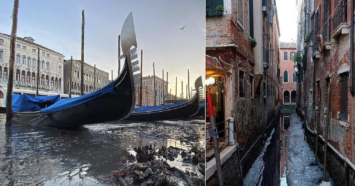 v4.jpg?resize=1200,630 - Venice's Canals Run Dry Just Two Months After Near-Record Floods