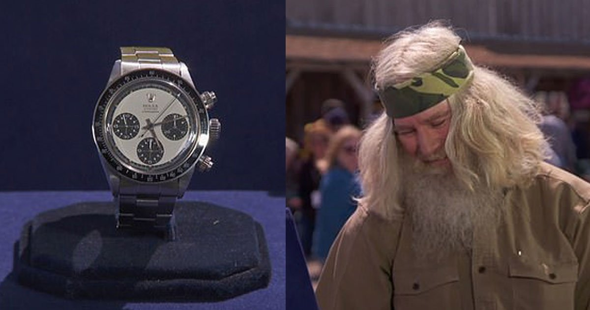 veteran collapsed after discovering the rolex he bought for less than 400 is now worth 700000.jpg?resize=1200,630 - A Man Discovered The Rolex He Bought For Less Than $400 Is Worth Up To $700,000