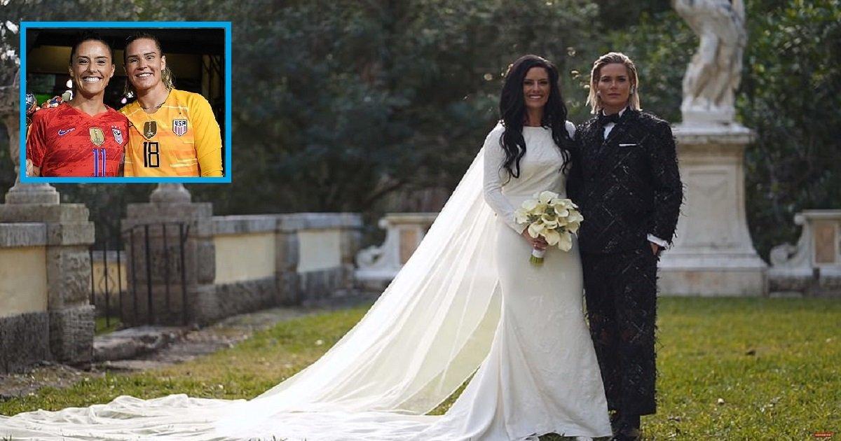 w3 1.jpg?resize=300,169 - Ashlyn Harris a épousé sa coéquipière de football, Ali Krieger, à Miami
