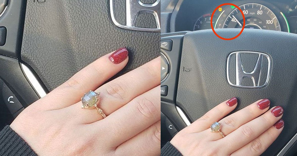 woman received backlash for clicking pictures of her engagement ring while driving.jpg?resize=1200,630 - Woman Slammed For Taking Pictures Of Her Engagement Ring While Driving