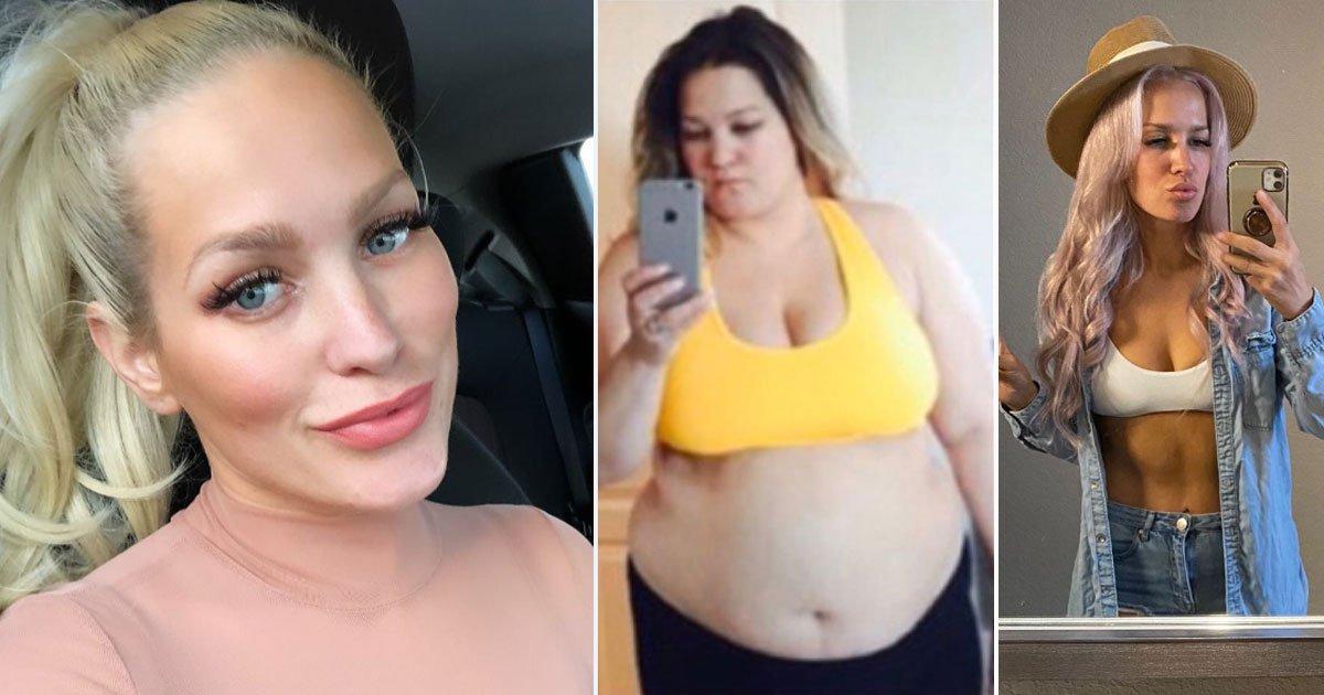 woman transformation.jpg?resize=412,232 - Cette femme mangeait quatre McDonald's par jour et pesait 136 kg